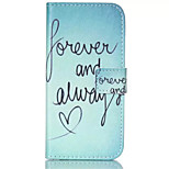 Always Love Pattern PU Leather Painted Phone Case For iPhone 6