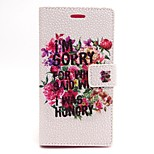 Flower Pattern PU Leather Full Body Case with Card Slot and Stand for Sony Xperia M2