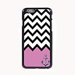 il caso duro di alluminio di disegno onda rosa per iPhone 6
