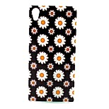 COCO FUN® Black & White Daisy Pattern Soft TPU IMD Back Case Cover for Sony M4