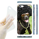 Explosion Hairstyle Dog Pattern TPU Soft Back Case for iPhone 6