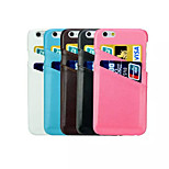 Lambskin Dual Card Bag Case for iPhone 6 (Assorted Colors)