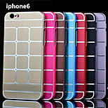 Fashion Slim Design Grid Stripe Metal Aluminum Brush Metal Cover Case for iphone 6