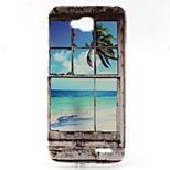 Sandy Beach Pattern TPU Material Phone Case for LG L90 D405