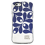 Blue Leaves  Pattern PC + TPU Drop Resistance  Phone Shell For iPhone 6