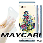 MAYCARI®Flower Anchor Pattern TPU Soft Transparent Back Case for iPhone 6