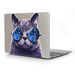 Cat with Glasses Pattern Print Pattern Hard Case for 12