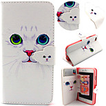 Cute Cat Pattern with Card Bag Full Body Case for iPhone 6