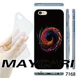 MAYCARI®Orange Swirl Pattern TPU Soft Transparent Back Case for iPhone 6