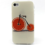 Bicycle  Pattern TPU Phone Case for iPhone 4/4S