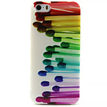 Color Match Pattern TPU Painted Soft Back Cover for iPhone 5/5S