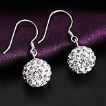 Japan and South Korea   S925  Silver   Circular fashion  Drop Earrings
