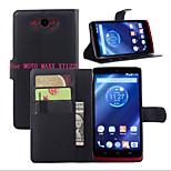 litchi alrededor paréntesis abierto cartera de tarjeta de teléfono de cuero adecuado para xt1225 Motorola MOTO maxx (color clasificado)