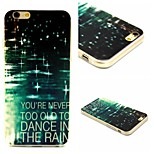 Dance In The Rain Pattern TPU Soft Back Cover Case for iPhone 6