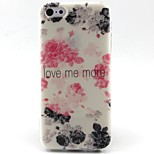 Flowers Pattern TPU Material Soft Phone Case for iPhone 5C