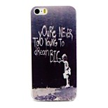 Writing Pattern TPU Material Phone Case for iPhone 5/5S