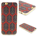 Cross Hexagon Pattern TPU Material Phone Case For iPhone 6