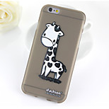 Black Giraffe Pattern TPU Soft Case for iPhone 6