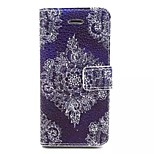 Corners Diamond Pattern PU Leather Material Card Full Body Case for iPhone 5/5S