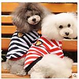 Dogbaby Pure Cotton Dog Naval Stripe T-Shirt Handsome Bobby Teddy Bear Schnauzer Beijing Spring, Summer, T-Shirts
