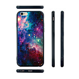 Starry Sky Pattern Silica Gel Edge Back Case for iPhone 6