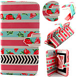 Pink Stripe Pattern with Card Bag Full Body Case for iPhone 6