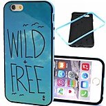 2-in-1 Wild Free Pattern TPU Back Cover with PC Bumper Shockproof Soft Case for iPhone 6