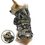 PETSOO Classic Camo Dog Coat Winter Pet Clothes