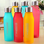 600ML PC Sports Camping Traveling Portable Frosted Water Bottle (Random Color)
