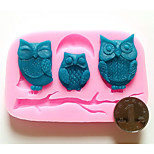 trois hiboux silicone fondant moule décoration de gâteau moule