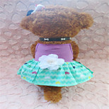 Holdhoney Purple And Green Cotton Skirt With Shoulder-Straps For Pets Dogs (Assorted Sizes) #LT15050165