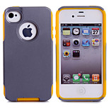 Soft Luxury PC+TPU Dual Layer Cool Case Crocodile Leather Skin Shockproof Slim Case for iPhone 4/4S (Assorted Color)