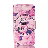 Flowers Pattern PU Leather Painted Phone Case For iPhone 4/4S