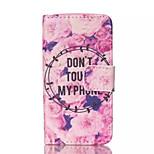 Modelo de flores de cuero de la PU caja del teléfono pintado para el iphone 4 / 4s