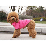 Red/Green/Blue/Pink/Yellow/Orange Cotton T-Shirt For Dogs