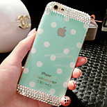 Diamond Wave Point Of Silica Gel Pattern Hard Back Back Case for iPhone6 (Assorted Color)