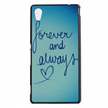 Love Letters Pattern PC Material Phone Case for Sony M4