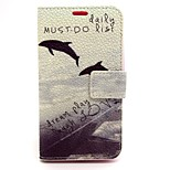 Dolphin Pattern PU Leather Full Body Case with Card Slot and Stand for Nokia Lumia 630