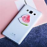 görögdinnye gyümölcs mintás ultra vékony, átlátszó TPU puha tok Samsung Galaxy A3 / A5 / A7 / A8