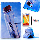 KARZEA™Drift Bottles Pattern PU Leather Case with Screen Protector Stylus and Dust Plug for Samsung Galaxy Note3 N9000