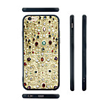 Palace Murals Pattern Silica Gel Edge Back Case for iPhone 6