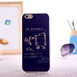 parole pittura TPU con custodia in plastica per il iphone 5 / 5s