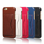 Crazy Horse Pattern Retro Fashion Card Back Shell Phone Leather Cover Bracket for iPhone 6(Assorted Color)