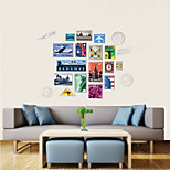 Wall Stickers Wall Decals Style Personality Stamp PVC Wall Stickers