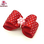FUN OF PETS® Cute  Ribbon Style Flower Decorated Rubber Band Hair Bow for Pet Dogs  (Random Color)