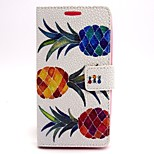 Pineapple Pattern PU Leather Material Card Full Body Case for LG G2