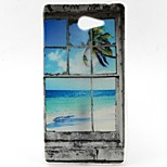 Coconut Tree Pattern TPU Material  Phone Case for Sony Xperia M2