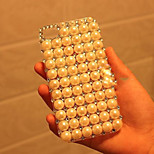 Diamond Pearl Pattern Transparent Hard Back Back Case for iPhone4/4S