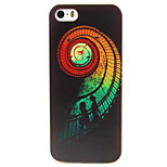 Rotating Ladder Pattern TPU Painted Soft Back Cover for iPhone 5/5S