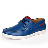 Men's Shoes Casual Leather Loafers Red/Blue/Black